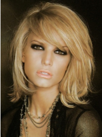 Jessica Simpson Wig Blonde Color Shoulder Length With Bangs