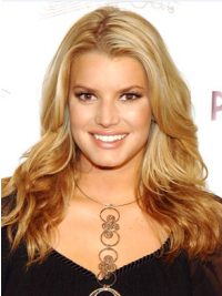 "18"" Soft Blonde Long Wavy Layered Jessica Simpson Wigs"