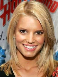 "12"" Perfect Blonde Shoulder Length Straight Layered Jessica Simpson Wigs"