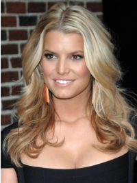 """16"""" Ideal Blonde Long Wavy Layered Jessica Simpson Wigs"""