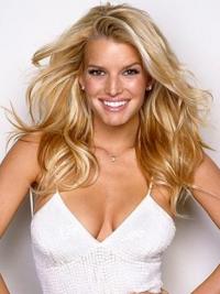 "18"" Fashionable Blonde Long Wavy Layered Jessica Simpson Wigs"