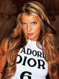 """26"""" Convenient Blonde Long Wavy Layered Jessica Simpson Wigs"""