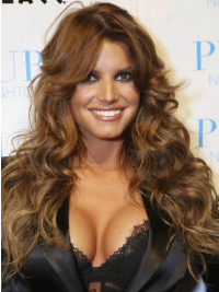 "20"" Gorgeous Brown Long Wavy Layered Jessica Simpson Wigs"