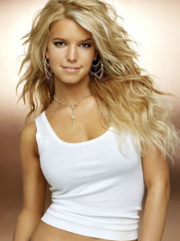 """18"""" Style Blonde Long Wavy Layered Jessica Simpson Wigs"""