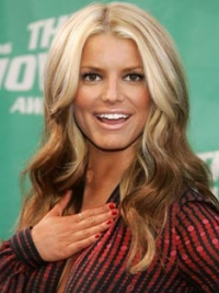 "16"" Cheapest Ombre/2 Tone Long Wavy Layered Jessica Simpson Wigs"
