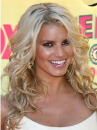 Wavy Lace Front Layered Long Blonde Incredible Jessica Simpson Wigs