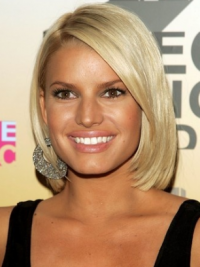 Jessica Simpson Wigs 100% Hand Tied Remy Human Blonde Color Short Length