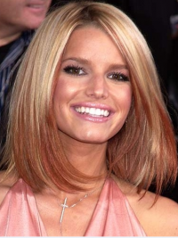 Straight Lace Front Bobs Short Ombre/2 Tone Amazing Jessica Simpson Wigs