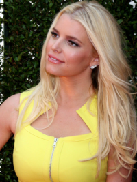 Wavy Lace Front Layered Long Blonde Designed Jessica Simpson Wigs
