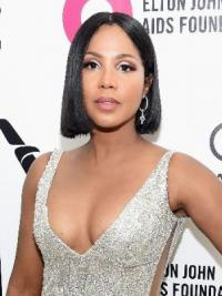 Capless Bobs Straight Chin Length Black Top Toni Braxton Wigs