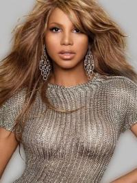 Brazilian Capless Long Wavy Layered Blonde Toni Braxton Wigs