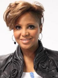 Capless Boycuts Straight Short Blonde Comfortable Toni Braxton Wigs