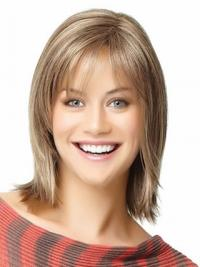 Short Bob Wigs Human Hair Shoulder Length Straight Style With Capless