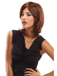 Layered Shoulder Length Auburn Wavy Convenient Petite Wigs
