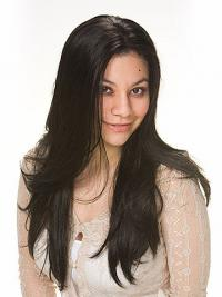 Synthetic Hair Wigs UK With Capless Black Color Straight Style