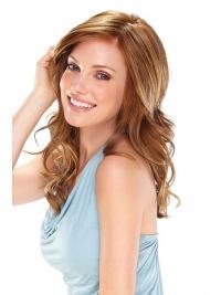 Long Wavy Without Bangs Stylish Auburn Lace Front Wigs