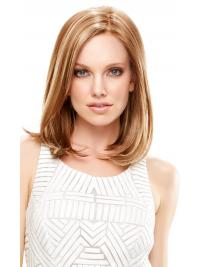 Lace Front Wigs Synthetic Shoulder Length Blonde Color Straight Style