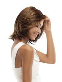"""No-Fuss Chin Length Wavy 11"""" Synthetic Glueless Lace Front Wigs"""