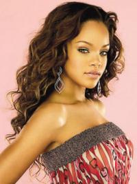 Good Long Auburn Curly Lace Front Rihanna Wigs