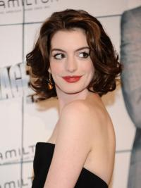 "Auburn Chin Length Wavy Layered Capless 10"" Anne Hathaway Wigs"