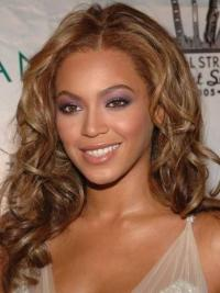 """Long Wavy Without Bangs Lace Front 16"""" Beautiful Beyonce Wigs"""