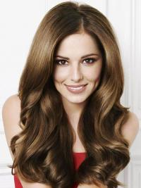 """Trendy Brown 20"""" Wavy Long Without Bangs Cheryl Cole Wigs"""