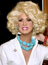 """Designed 12"""" Chin Length Curly Classic Lace Front Kim Zolciak Wigs"""