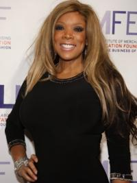 "Without Bangs Straight Blonde 22"" Flexibility Wendy Williams Wigs"