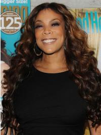 "Without Bangs Wavy Brown 26"" Fabulous Wendy Williams Wigs"