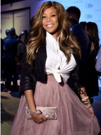 """Without Bangs Wavy Brown 20"""" Online Wendy Williams Wigs"""