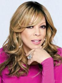 "With Bangs Wavy Blonde 18"" Soft Wendy Williams Wigs"