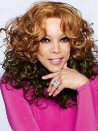 "Without Bangs Curly Ombre/2 Tone 18"" Fashionable Wendy Williams Wigs"