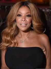 """Without Bangs Wavy Blonde 18"""" Gorgeous Wendy Williams Wigs"""