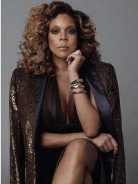 """Without Bangs Curly Ombre/2 Tone 16"""" Style Wendy Williams Wigs"""