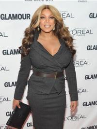"""Without Bangs Wavy Ombre/2 Tone 22"""" Suitable Wendy Williams Wigs"""