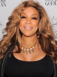 Wendy Williams Wig Remy Human Lace Front Wavy Style Layered Cut