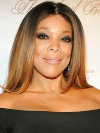 """Without Bangs Straight Ombre/2 Tone 20"""" Natural Wendy Williams Wigs"""
