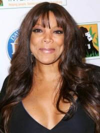 """With Bangs Wavy Brown 22"""" Beautiful Wendy Williams Wigs"""