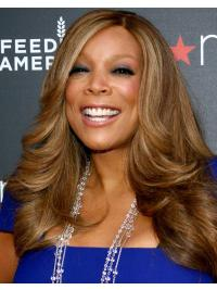 """20"""" Lace Front Long Brown Wavy Wendy Williams Synthetic Wigs"""