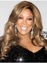 """16"""" Curly Capless Long Blonde Without Bangs Synthetic Wendy Williams Wigs"""