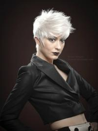 Mono Short Wigs With Remy Monofilament Boycuts Straight Style