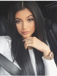 "Fashionable 20"" Long Straight Without Bangs Full Lace Kylie Jenner Wigs"