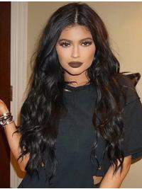 """Convenient 24"""" Long Curly Without Bangs Lace Front Kylie Jenner Wigs"""