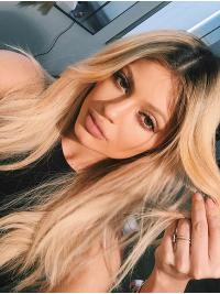 "Suitable 16"" Long Wavy Layered Kylie Jenner Wigs"