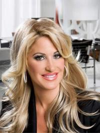 "Beautiful 20"" Long Wavy With Bangs Capless Kim Zolciak Wigs"